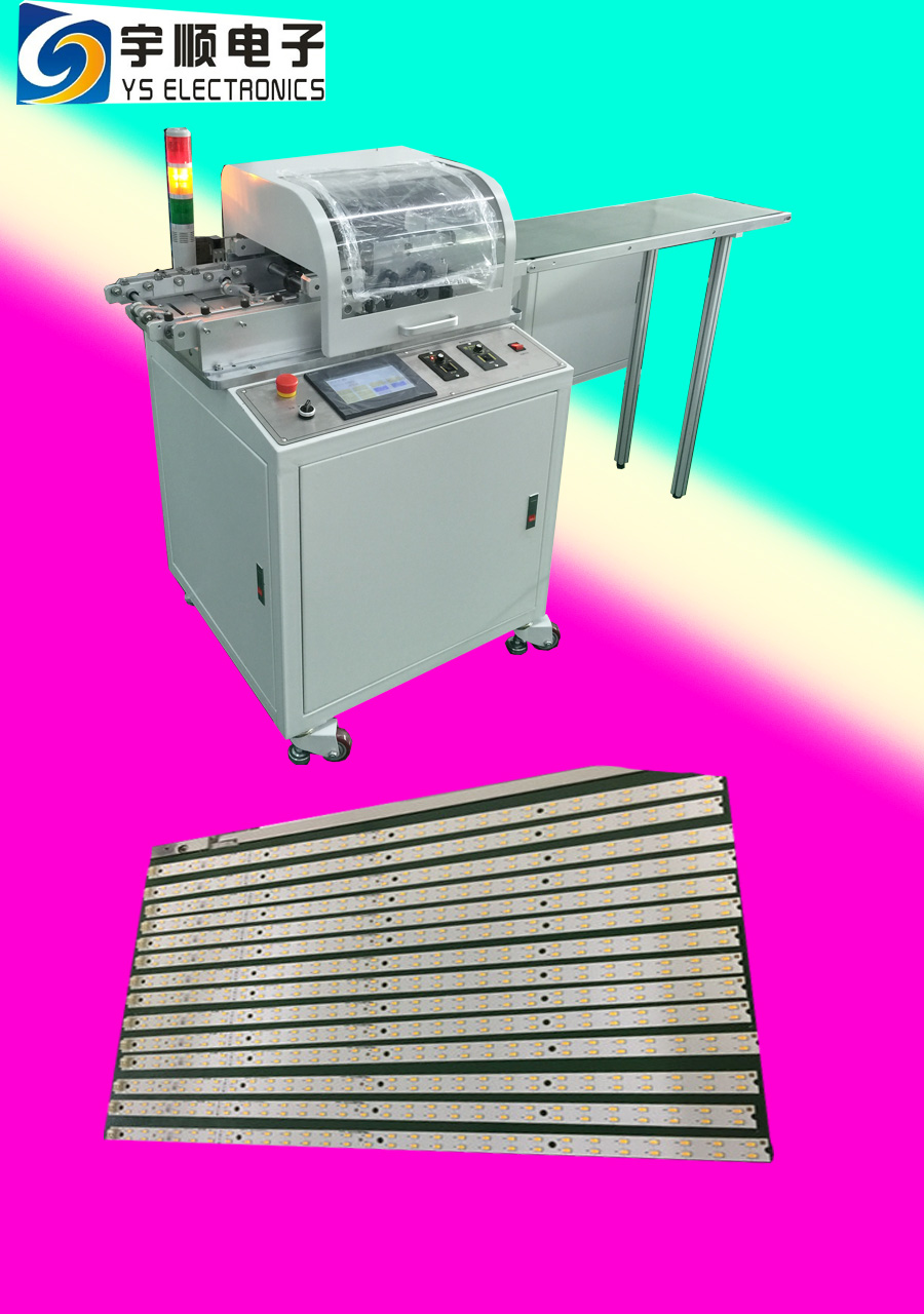 PCB Separation Our component height near to V-groove is 15 mm,Pre scored v cut PCB Punching Machine